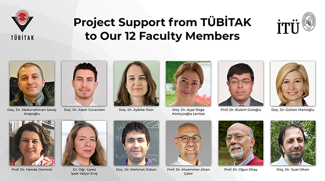 Project Support from TÜBİTAK to Our 12 Faculty Members Görseli