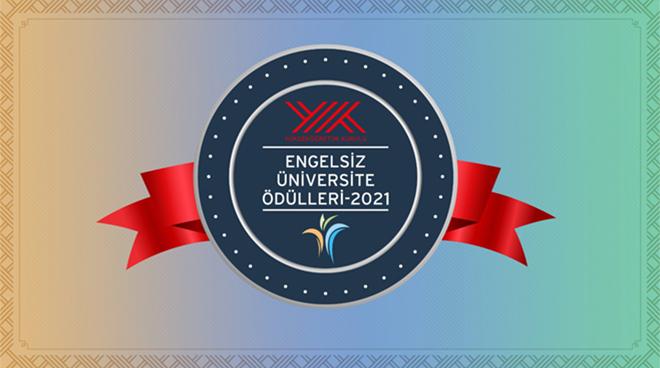 Engelsiz Üniversiteler Ödülleri'nde Üniversitemize 2 Ödül Birden Görseli