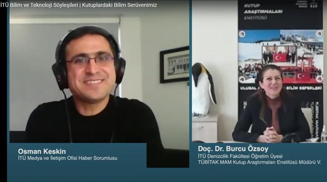 Doç. Dr. Burcu Özsoy ile Kutuplardaki Bilim Serüvenimizi Konuştuk Görseli