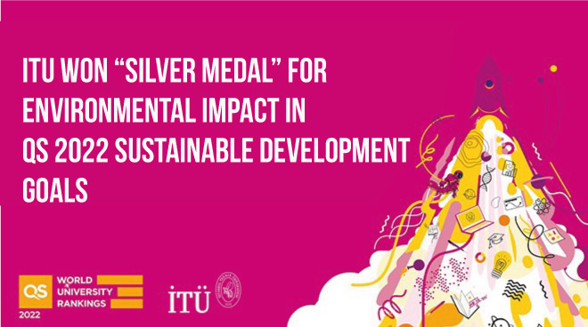 "ITU won ""Silver Medal"" for Environmental Impact in QS 2022 Sustainable Development Goals Görseli"
