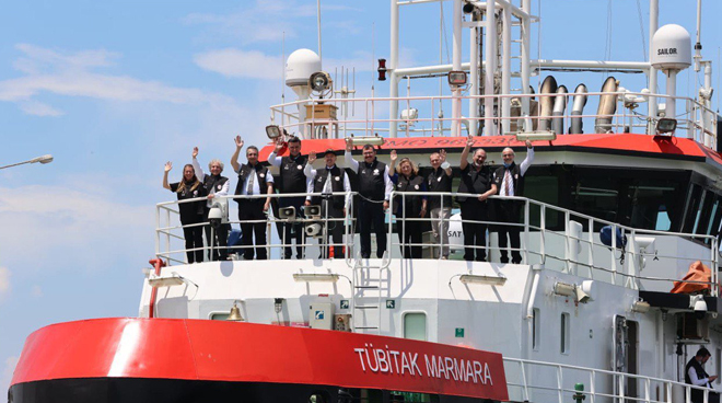 TÜBİTAK MARMARA Research Vessel Completed Its First Earthquake Voyage Görseli