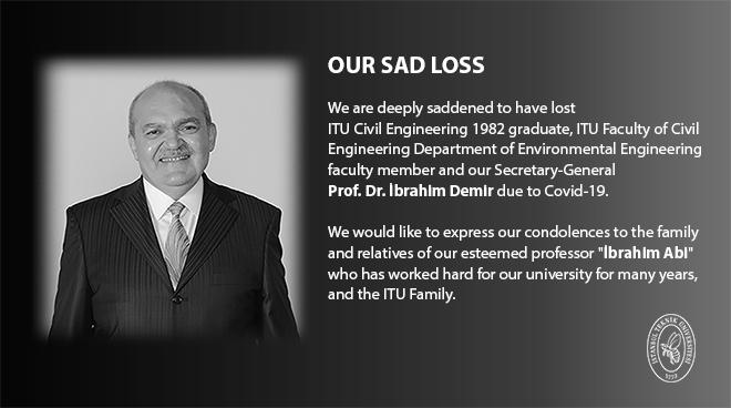 Our Secretary-General Prof. Dr. İbrahim Demir Passed Away Görseli